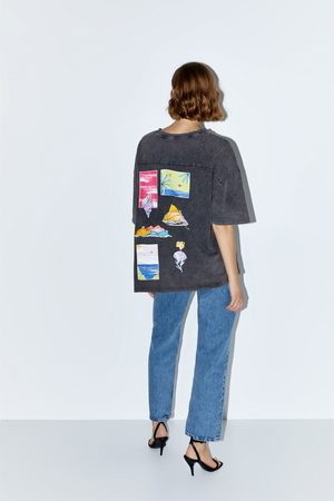 Zara T-shirt com estampado gráfico