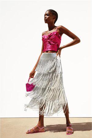 Zara Saia com lantejoulas e franjas edição limitada