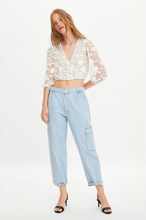 Zara Camisa de tule com bordados