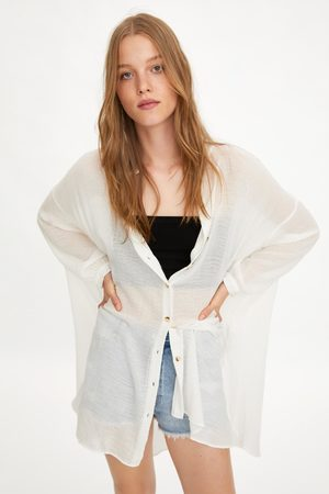 Zara Camisa oversize rústica