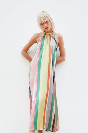 Zara Vestido riscas multicolor