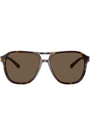 Bvlgari Diagono tortoiseshell sunglasses
