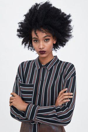 Zara Camisa curta riscas