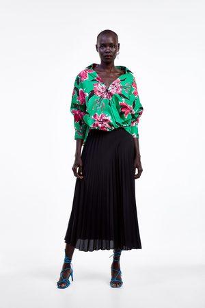 Zara Camisa de popelina com estampado floral