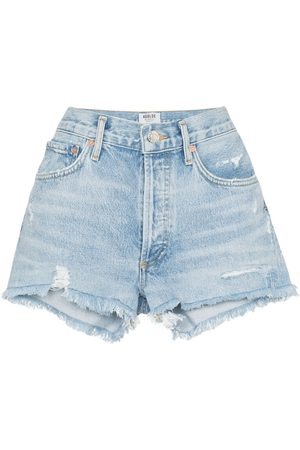 AGOLDE Distressed denim shorts
