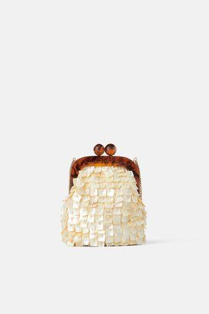 Zara Mini mala a tiracolo com fecho e missangas