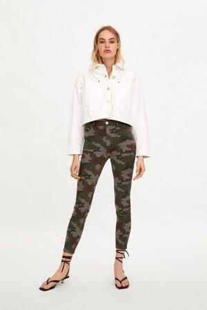 Zara Jeans skinny camuflagem