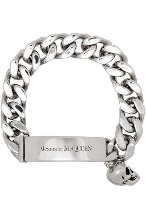 Alexander McQueen Homem Pulseiras - Skull charm link bracelet