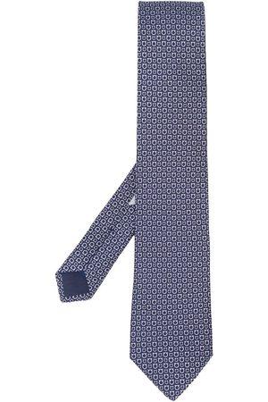 Salvatore Ferragamo Homem Laços de Colarinho - Gancini print tie