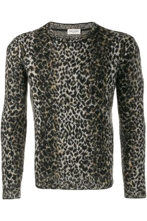 Saint Laurent Intarsia leopard knitted sweater