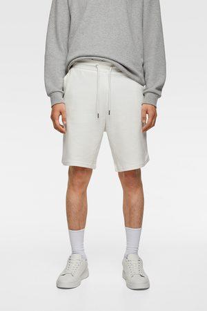 Zara Homem Bermudas - Calções bermuda jogger básicos