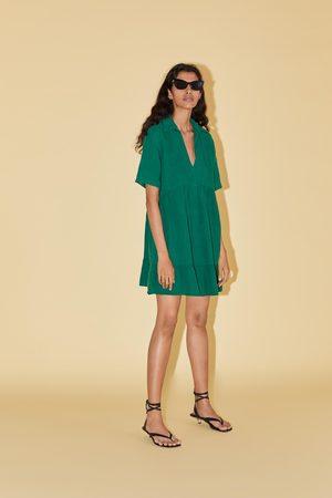 Zara Vestido mini com costuras