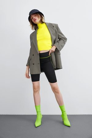 Zara Calças ciclista com pesponto