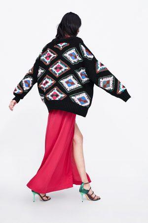 Zara Sweater com bordados geométricos