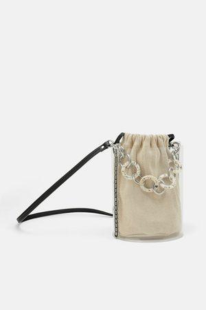 Zara Mala a tiracolo de vinil com alças padrão tartaruga