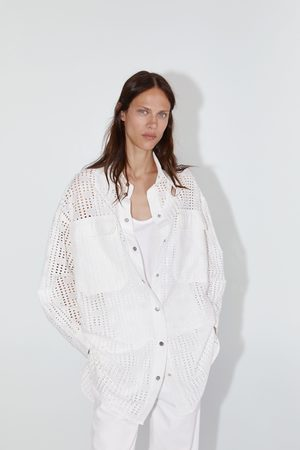 Zara Camisa com bordados perfurados