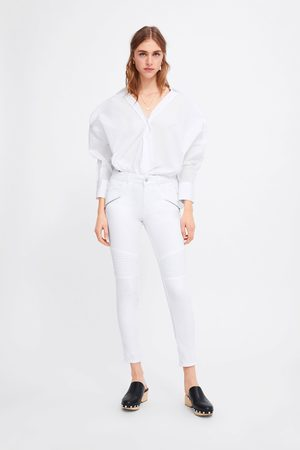 Zara Jeans z1975 skinny com fechos de correr