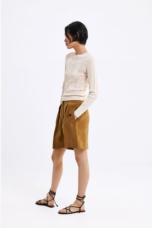 Zara Senhora Camisolas sem capuz - Sweater pointelle limited edition