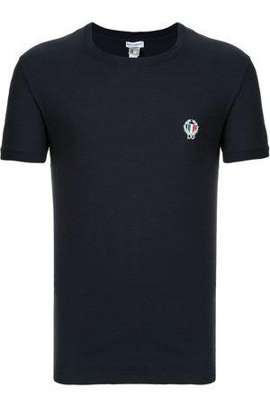 Dolce & Gabbana Homem T-shirts & Manga Curta - Embroidered logo T-shirt