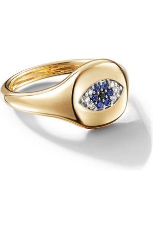 David Yurman Senhora Anéis - 18kt yellow gold Cable Collectibles Evil Eye sapphire and diamond mini pinky ring