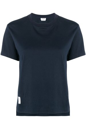 Thom Browne Slide Slits Relaxed Navy Tee