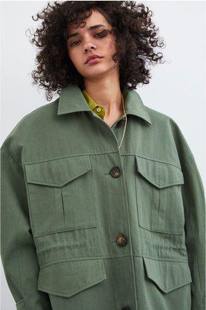 Zara Camisa comprida com pregas