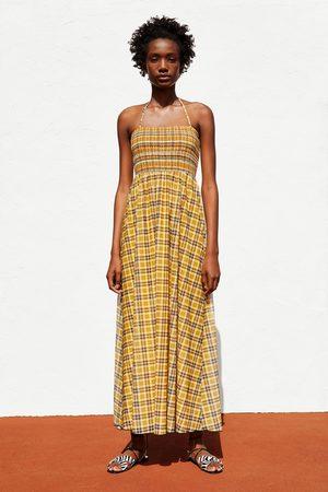 Zara Vestido comprido quadrados