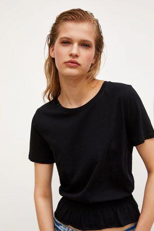 Zara Senhora T-shirts & Manga Curta - T-shirt com elástico