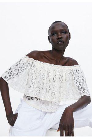 Zara Top cropped renda