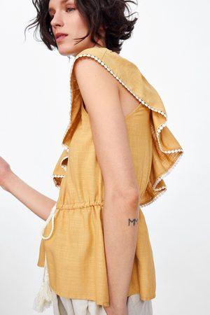 Zara Blusa assimétrica folho