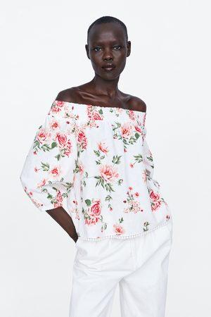Zara Blusa com estampado floral