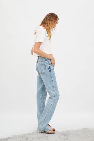 Zara T-shirt com textura combinada