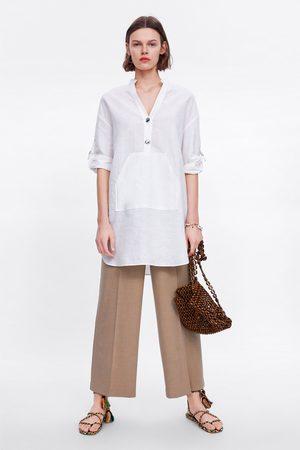 Zara Túnica com bolso canguru