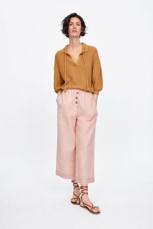 Zara Calças culotte botões