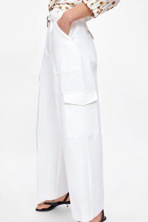 Zara Calças cargo bolsos