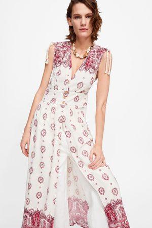 Zara Túnica estampada com bordados