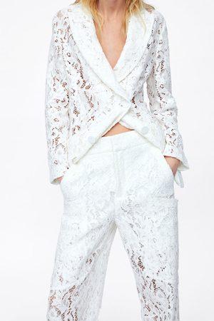 Zara Calças de renda com bolsos