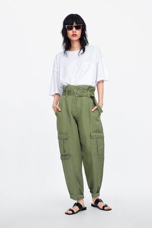 Zara Calças cargo com cinto