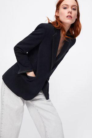 Zara Blazer de veludo combinado
