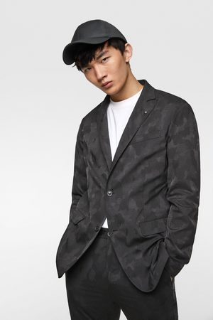 Zara Homem Blazers - Blazer de jacquard com estampado de camuflagem