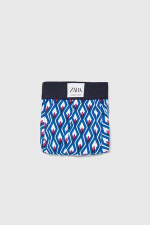 Zara Homem Boxers - Boxers estampado geométrico