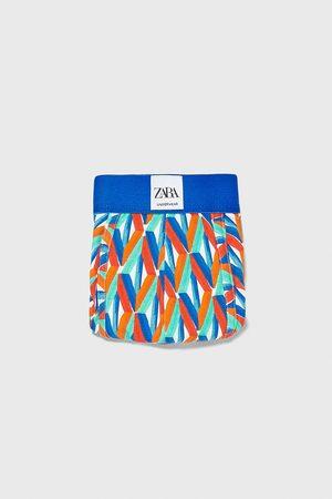 Zara Boxers estampado geométrico