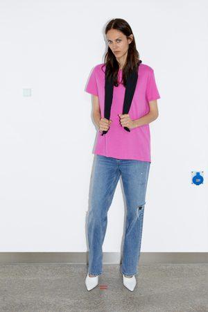 Zara T-shirt assimétrica básica