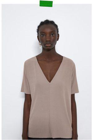 Zara Senhora T-shirts & Manga Curta - T-shirt básica