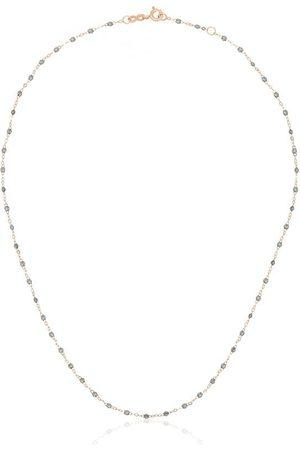GIGI CLOZEAU 18kt rose gold classic bead necklace