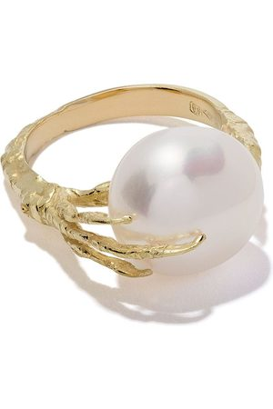 WOUTERS & HENDRIX 18kt gold claw pearl ring