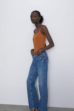 Zara T-shirt elástica de alças