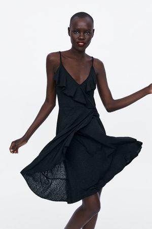 Zara Senhora Vestidos - Vestido alças folho