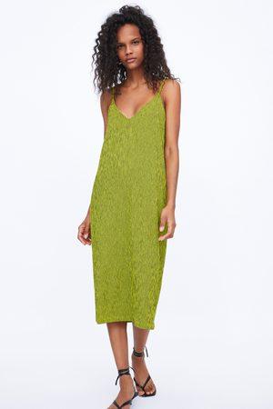 Zara Vestido de estrutura de alças