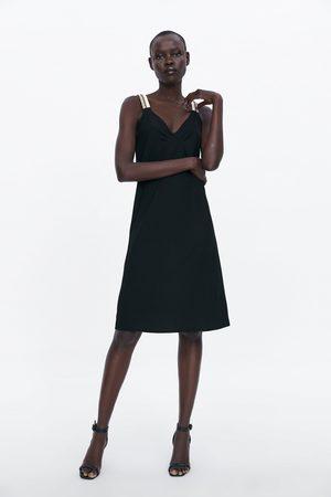 Zara Vestido de alças combinadas